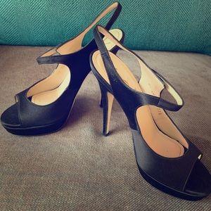 Amazing YSL satin sandals. Never worn!